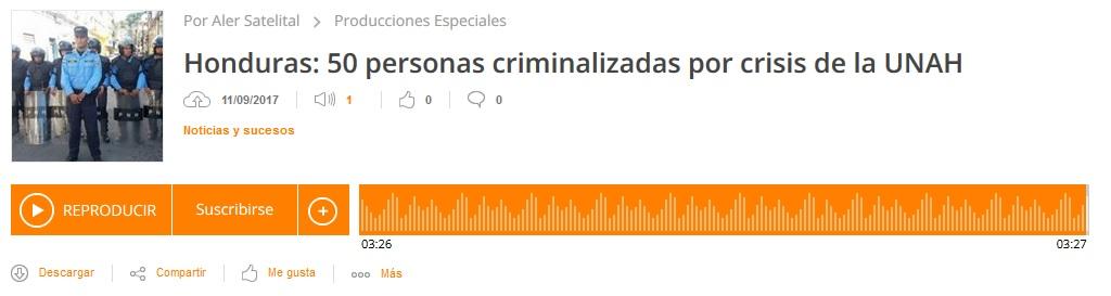 50 Personas criminalizadas por la crisis de la UNAH