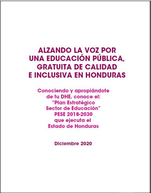 Alzando la Voz por una Educación Pública, Gratuita de Calidad e Inclusiva en Honduras