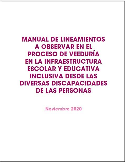Manual Metodológico para la Veeduría e Incidencia en la Política Pública Educativa Local para las Organizaciones de Sociedad Civil Comunitarias