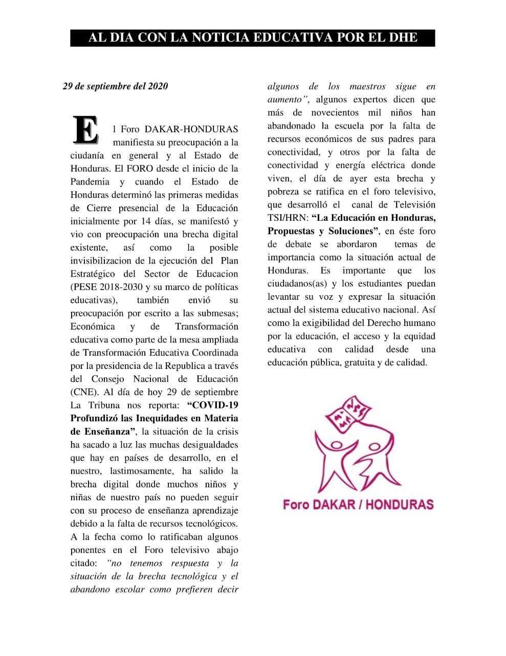 Articulo 29 de septiembre 2020
